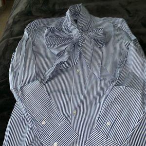 Ralph Lauren big bow woman's shirt sz 12